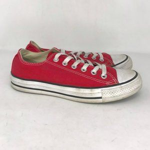 Converse Mens M9696 Red Sneaker Shoes Size M 6 W 8